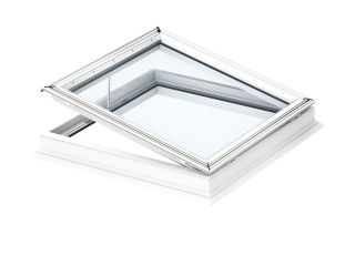 VELUX - CFP 100100 0073QV - Fixed flat roof window, laminated inner pane, PVC construction,100x100