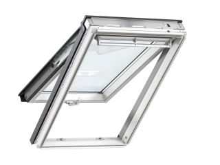 VELUX - GPL PK08 S10W02 - WP top-hung RW, insulated tile flashing, beige duo-blackout blind