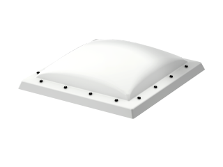 VELUX - ISD 080080 0110 - Opaque PC dome top for FRW, scratch resistant, 0-15 degrees, 80x80
