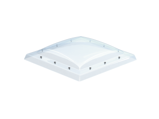 VELUX - ISD 090090 0010 - Clear PC dome top for FRW, scratch resistant, 0-15 degrees, 90x90